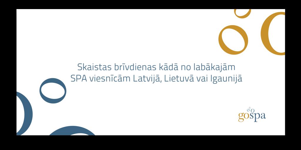 GoSPA dāvanu karte elektroniskā formātā, kas derīga atpūtai 38 SPA viesnīcās Latvijā, Lietuvā un Igaunijā.